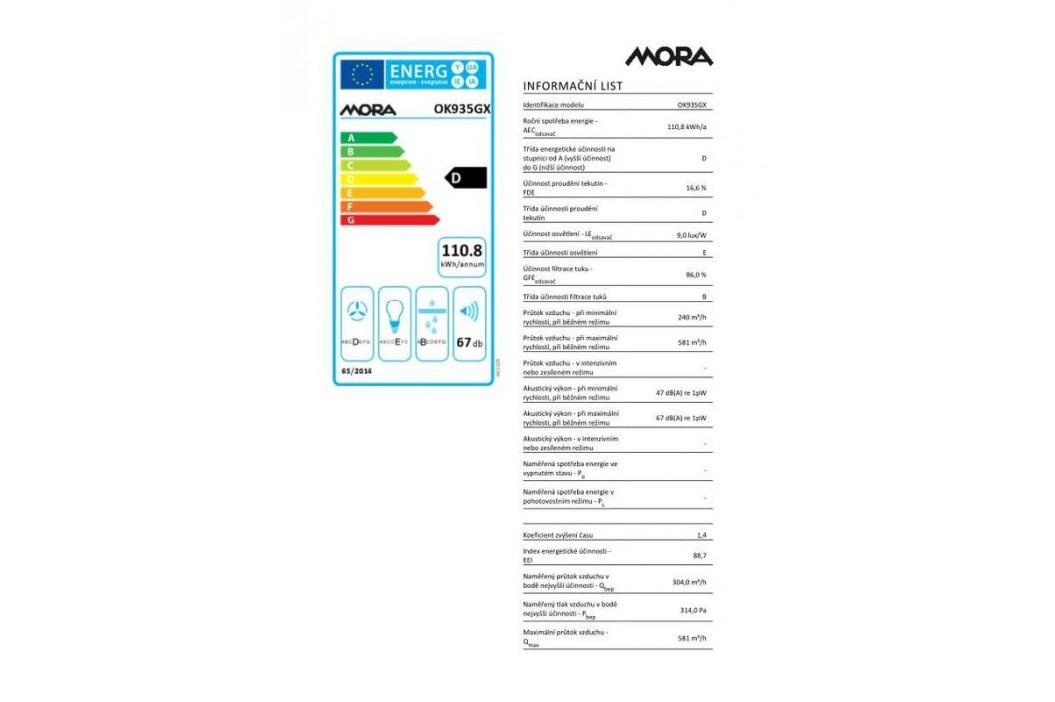 Mora OK 935 GX nerez/sklo