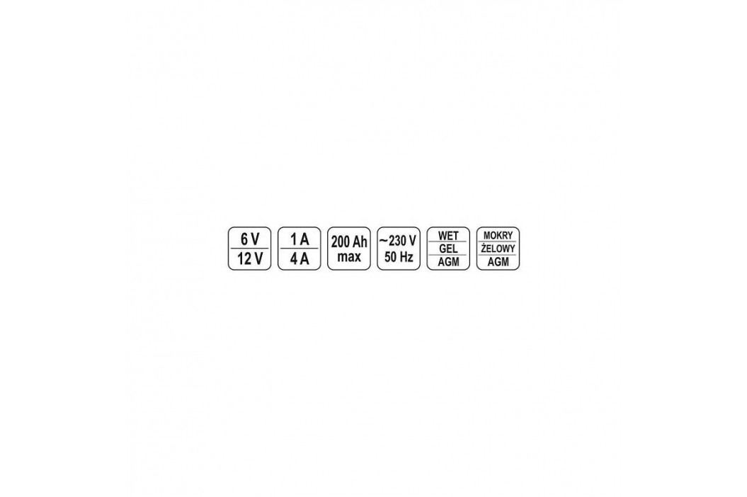 YATO 1A/6V 4A/12V gel/procesor