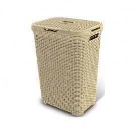 Curver Rattan 00707-885, 60 l biely/krémový