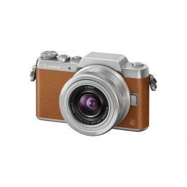 Panasonic Lumix DMC-GF7KEG-T + objektiv 12-32 mm strieborný/hnedý