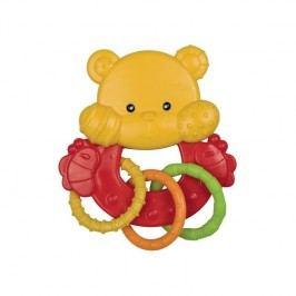 Canpol babies zvířátko s kroužky medvídek červená/žltá/zelená/oranžová