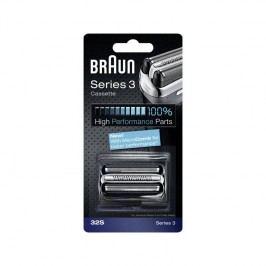 Braun Series3 - 32S Micro comb strieborné