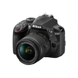 Nikon D3400 + AF-P 18-55 VR + 4x čištění čipu zdarma (VBA490K001) čierny