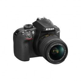 Nikon D3400 + AF-P 18-55 NON VR + 4x čištění čipu zdarma (VBA490K002) čierny