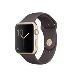 Apple Watch Series 1 42mm pouzdro ze zlatého hliníku – kakaově hnědý sportovní řemínek (MNNN2CN/A)