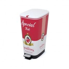 KIS Chic Bin 50 l biela farba/červená farba