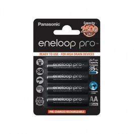 Panasonic Eneloop Pro AA, 2500mAh, 4 ks (BK-3HCDE/4BE) čierna