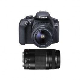 Canon EOS 1300D 18-55 DC + 75-300 DC (1160C049AA) čierny