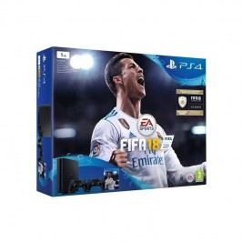 Sony PlayStation 4 SLIM 1TB + DS4  černý + FIFA18 + PS Plus 14 dní (PS719915867) čierna