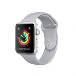 Apple Watch Series 3 GPS 38mm pouzdro ze stříbrného hliníku - mlhově šedý sportovní řemínek (MQKU2CN/A)