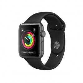 Apple Watch Series 3 GPS 38mm pouzdro z vesmírně šedého hliníku - černý sportovní řemínek (MQKV2CN/A)