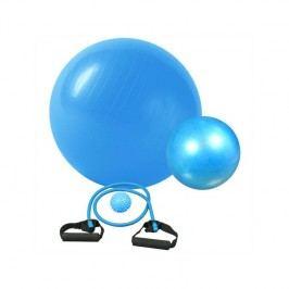 Fitness rehabilitačná sada Brother Gymball, overball, masážna loptička, expander - modrá farba