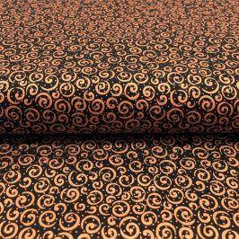 METALS Scroll black copper