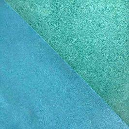 Umelá koža semiš ALASKA turquoise/aqua