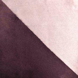 Umelá koža semiš ALASKA prune/parme