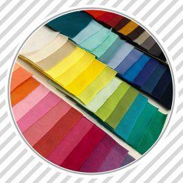 Vzorkovník jednofarebný bavlnený úplet
