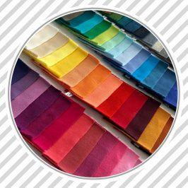 Vzorkovník jednofarebná bavlnená teplákovina