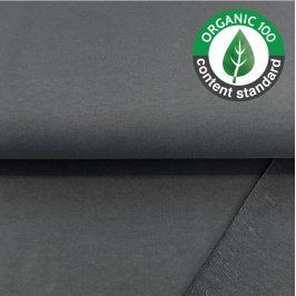 Teplákovina BIO dark grey