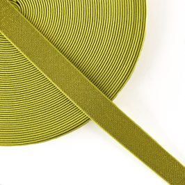 Guma hladká 2,5 cm glitter yellow