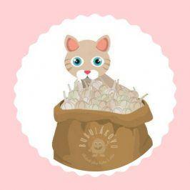 Mačka vo vreci 1 kg jednofarebná teplákovina
