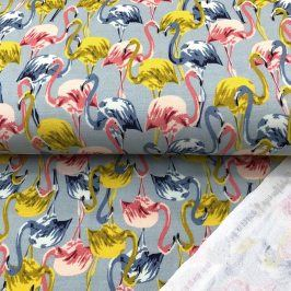Teplákovina Modal Flamingo light blue