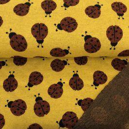 Žakárový úplet Ladybug yellow