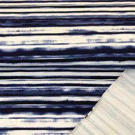 Teplákovina Painted stripe digital print