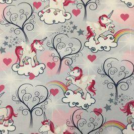 CANVAS Unicorn love digital print