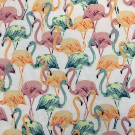 Teplákovina Modal Flamingo white
