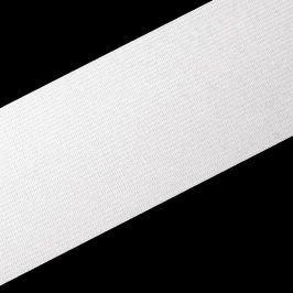 Guma hladká 4 cm biela