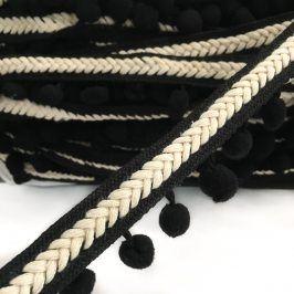 Lemovacia bambuľka Herringbone black