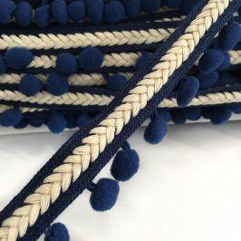 Lemovacia bambuľka Herringbone dark blue