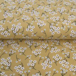 Teplákovina Modal Flowers yellow