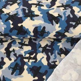 Teplákovina Army airplane blue