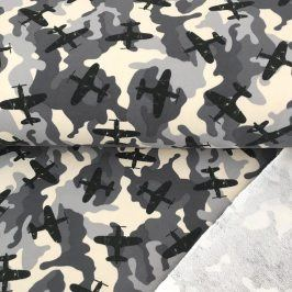 Teplákovina Army airplane grey