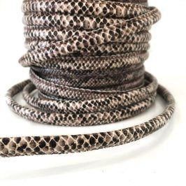 Šnúra umelá koža Snake brown