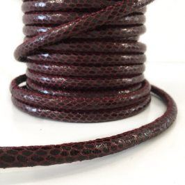 Šnúra umelá koža Snake bordeaux