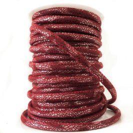 Semišová šnúra Glitter red