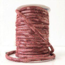 Semišová šnúra Glitter old pink