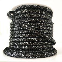 Semišová šnúra Luxe black