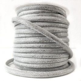 Semišová šnúra Luxe white