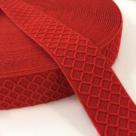 Guma hladká 4 cm Rhombus red