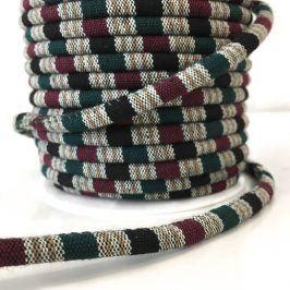 Bavlnená šnúra 5 mm Aztec bordeaux