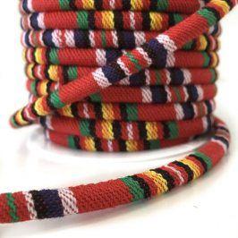 Bavlnená šnúra 5 mm Aztec red