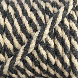 Bavlnená šnúra 5 mm grey