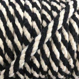 Bavlnená šnúra 5 mm black