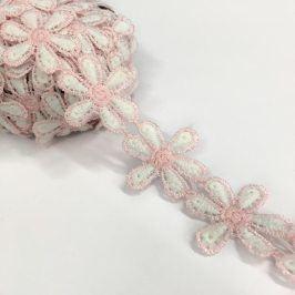 Čipka Little flowers light pink