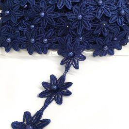 Čipka Bloom dark blue