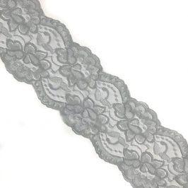 Čipka Blossom light grey