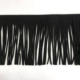 Strapce 12 cm semiš black